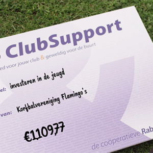 Korfbalclub Flamingo's | Mooie opbrengst Rabo ClubSupport!